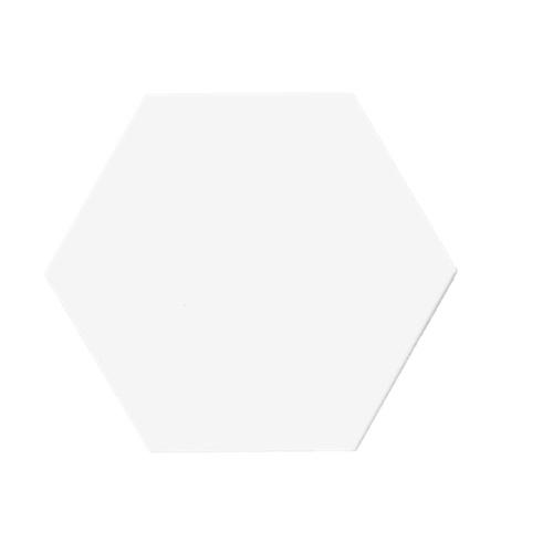 Terre D'Azur Hexagonale vloertegel mat wit 15x17cm hexagon F4