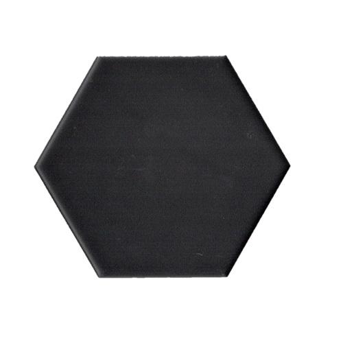 Terre D'Azur Hexagonale vloertegel mat zwart 15x17cm hexagon F17