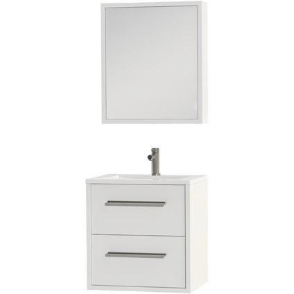 Tiger Boston badmeubel met spiegelkast en witte wastafel 60cm wit
