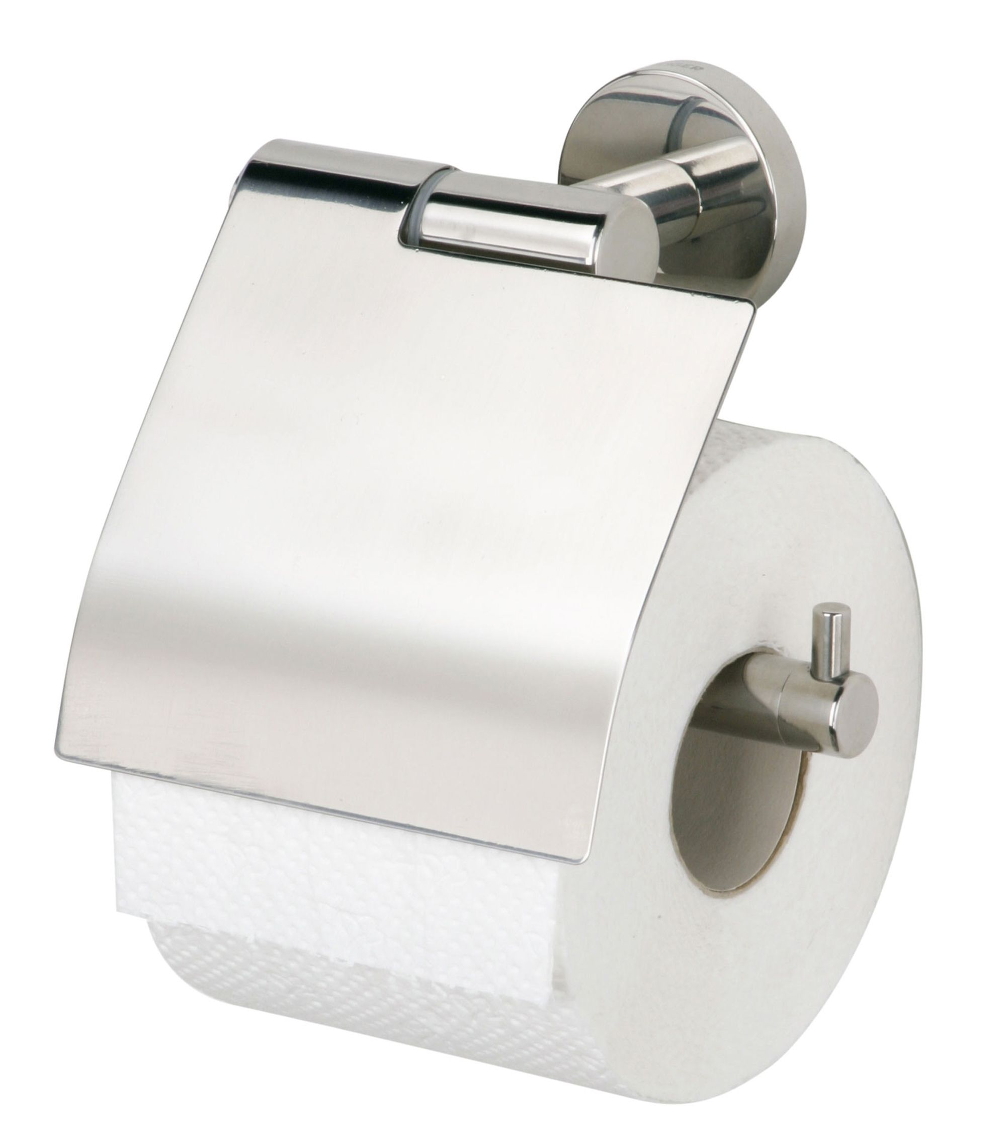 Tiger Boston toiletrolhouder klep RVS glans