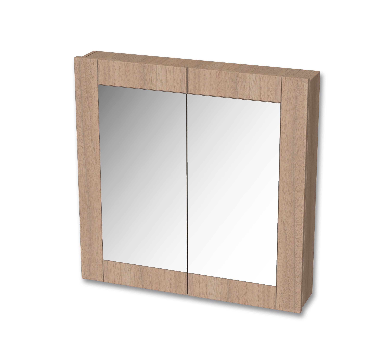 Tiger Frames spiegelkast 80x80cm rustiek eiken