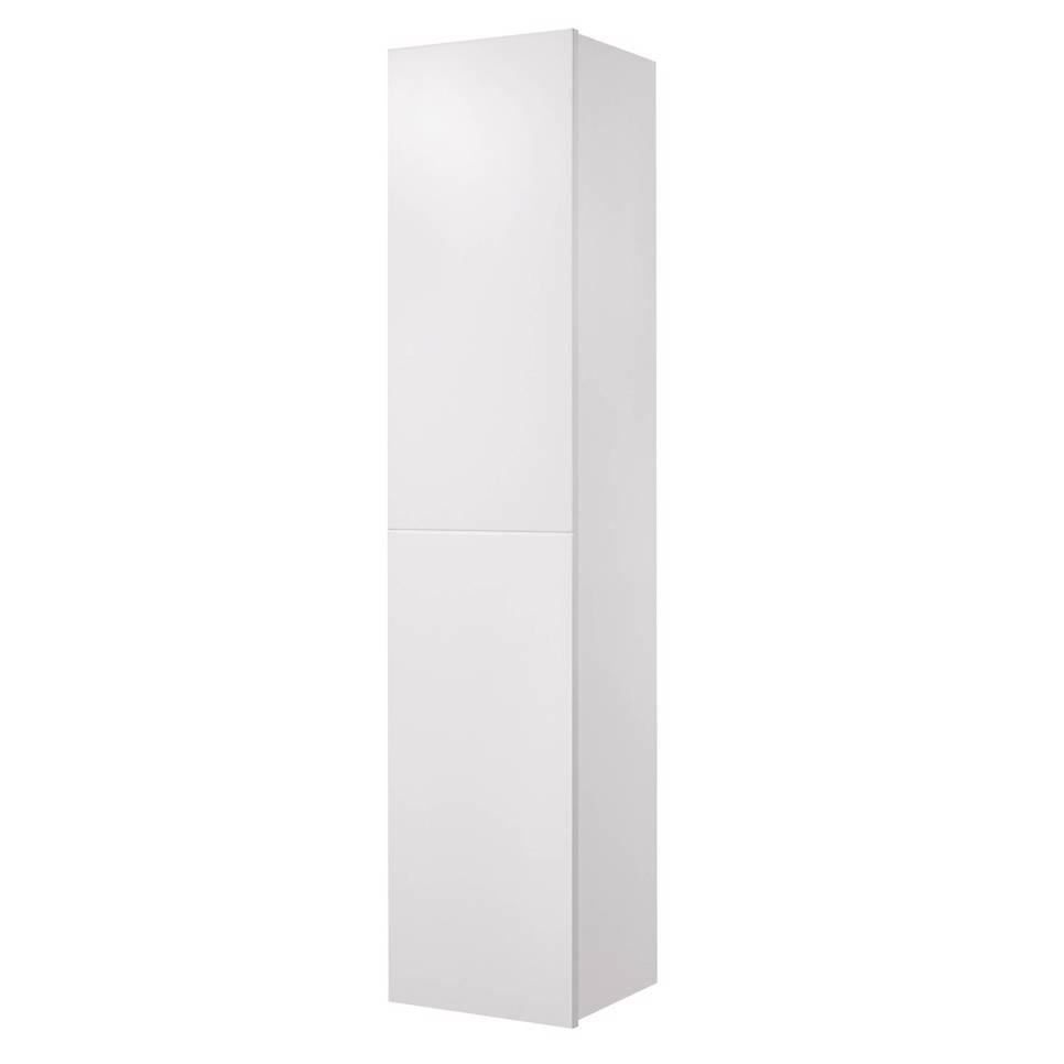 Tiger Items kolomkast met deur en 2 lades 160 cm hoog wit hoogglans