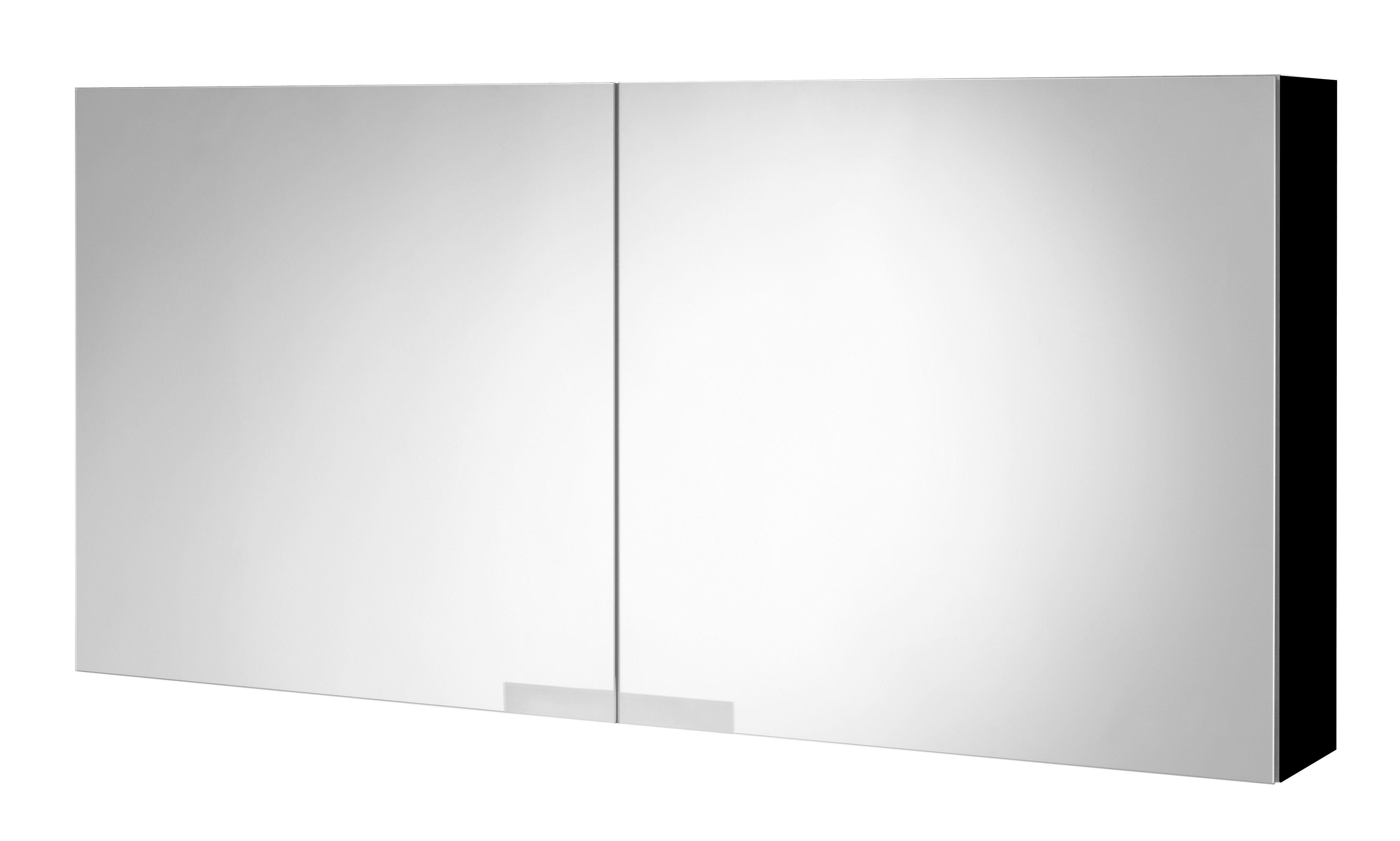Tiger Items spiegelkast 105 x 50 cm, zwart hoogglans