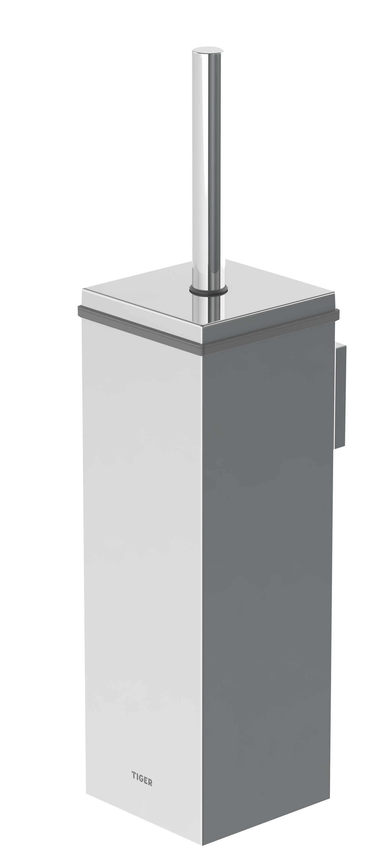Tiger Items toiletborstelgarnituur rechthoekig RVS