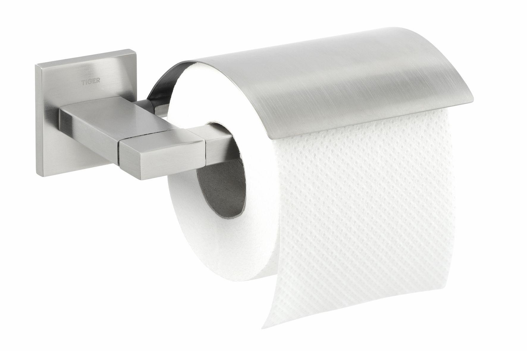 Tiger Items toiletrolhouder met klep RVS