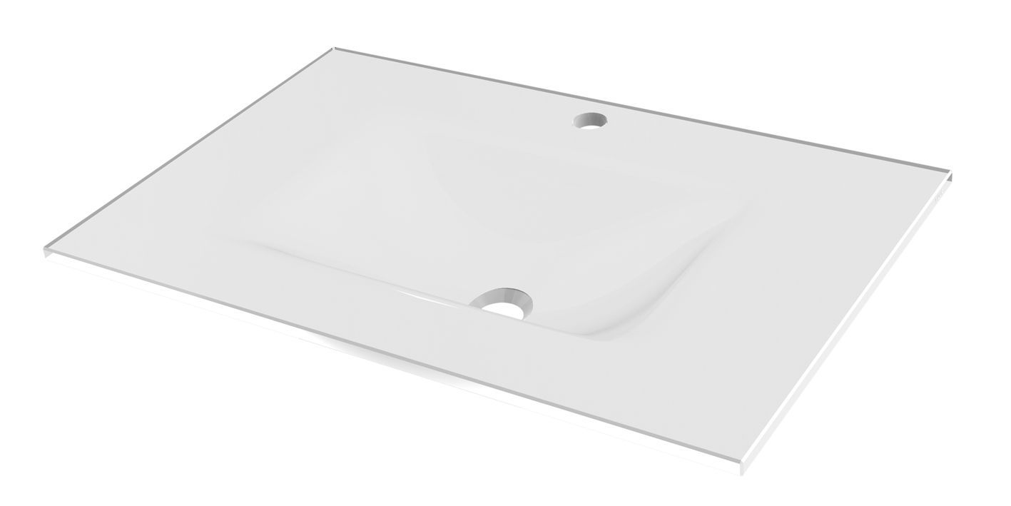 Tiger Items wastafelblad 70 cm wit glas