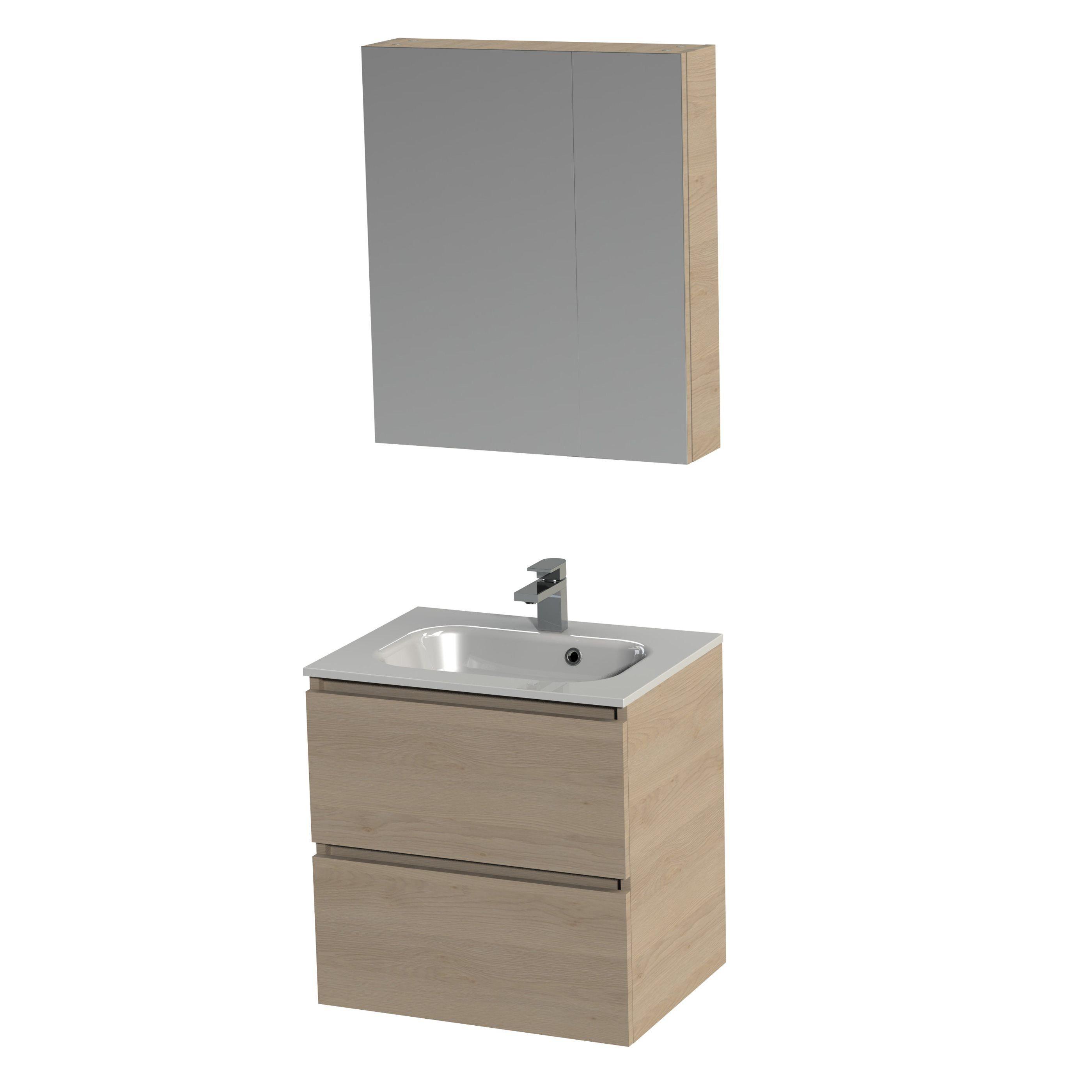 Badkamer accessoires tiger loft badmeubel met for Spiegelkast badkamer 60 cm