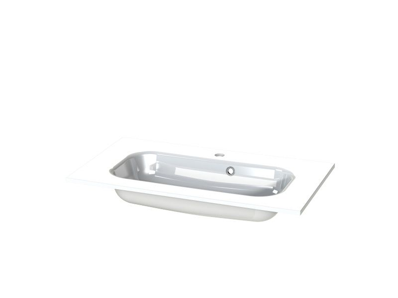 Tiger S-Line wastafel 80x45cm hoogglans wit