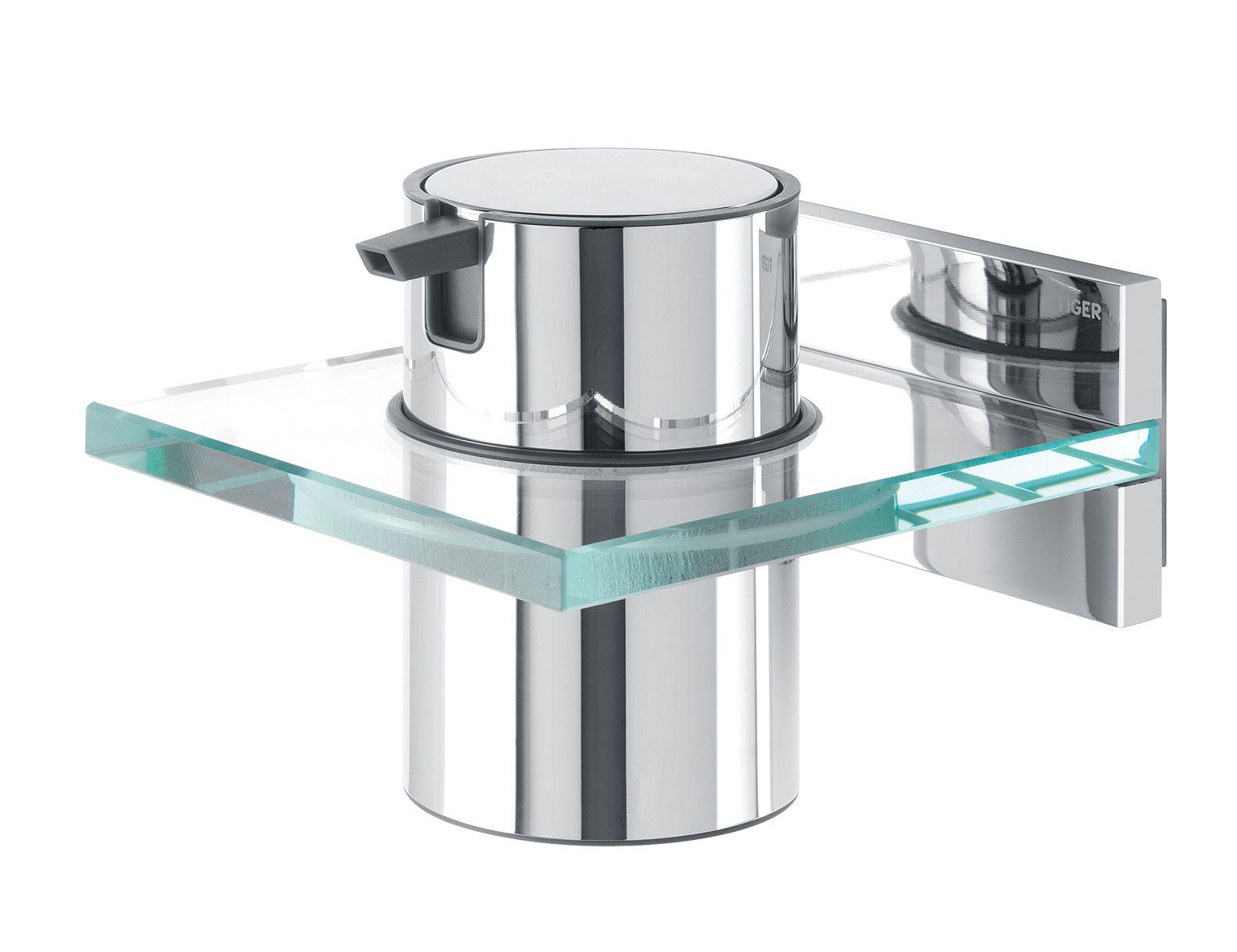 Tiger Saifra zeepdispenser chroom/glas