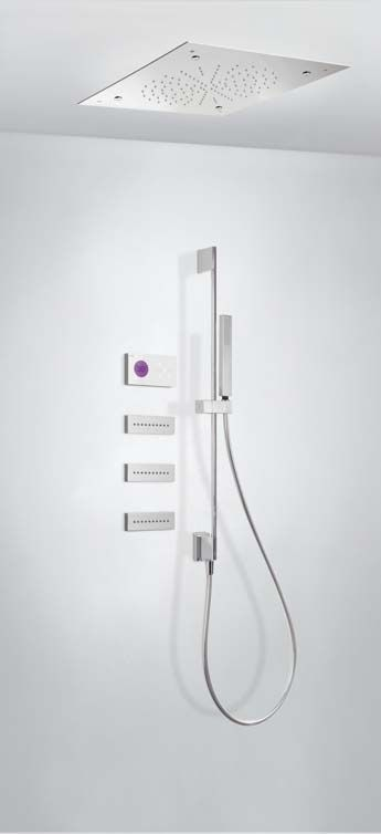Tres Shower Technology digitale inbouwthermostaat met luxe regendouche en massagejets