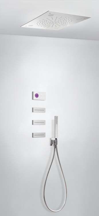 Tres Shower Technology digitale inbouwthermostaat met regendouche en massagejets