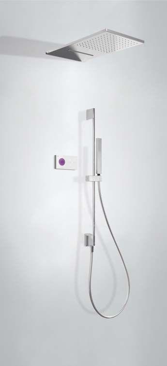 Tres Shower Technology digitale inbouwthermostaat met wanddouche en watervalfunctie
