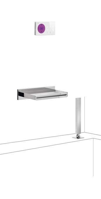 Tres electronische digitale bad inbouwthermostaat met handdouche en baduitloop chroom 09286570