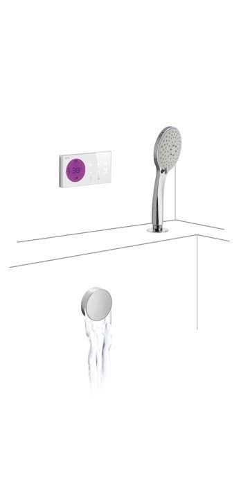 Tres Shower Technology elektronische inbouwthermostaat met overloop inclusief vulmogelijkheid