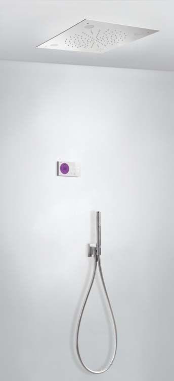 Tres Shower Technology elektronische inbouwthermostaat met regendouche 50x50cm en handdouche