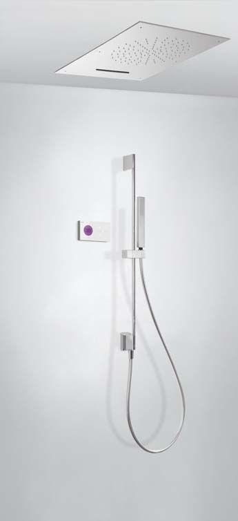 Tres Shower Technology elektronische inbouwthermostaat met waterval plafonddouche en handdouche