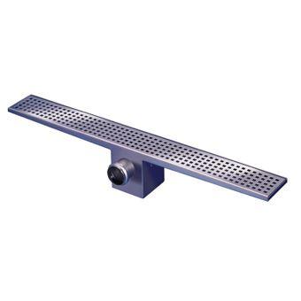 van den Berg RVS standaard douchegoot m. onderuitloop 900x100mm inbouwdiepte 150mm