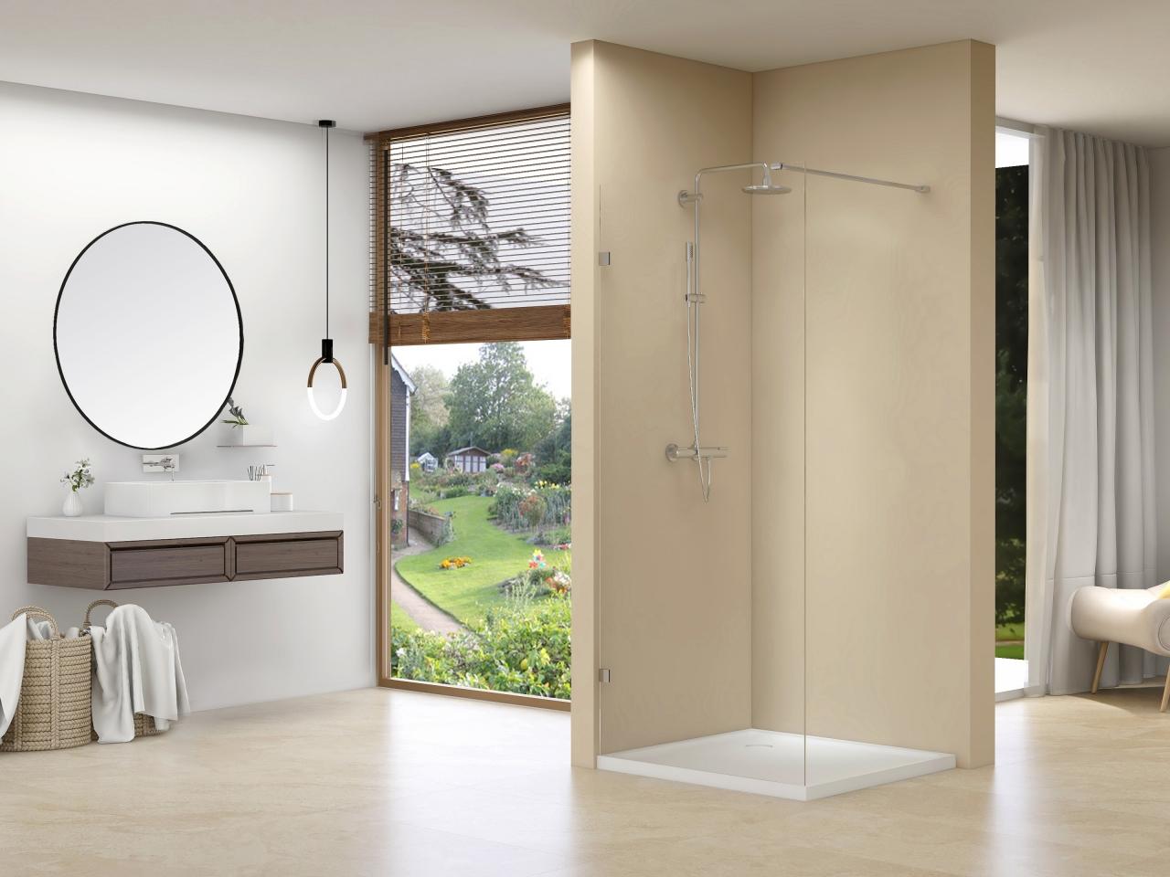 Productafbeelding van van Rijn ST01 profielloze inloopdouche 120x200cm chroom