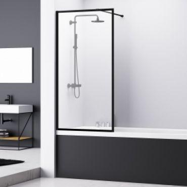 van Rijn ST04 badwand mat zwart 80x160cm