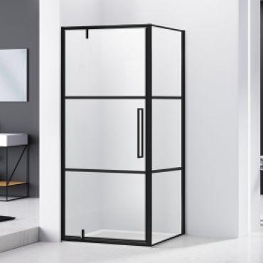 Productafbeelding van van Rijn ST04 douchecabine mat zwart 100x100cm