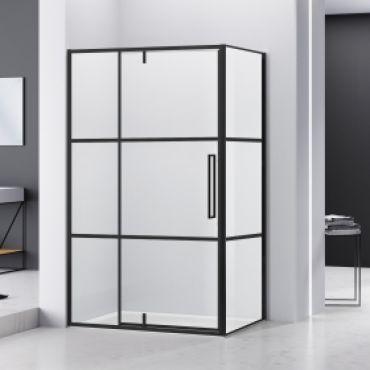Productafbeelding van van Rijn ST04 douchecabine mat zwart 120x100cm