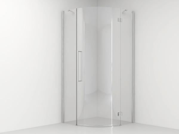 van Rijn ST05 kwartronde douchecabine chroom 90x90cm