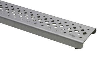 VIEGA VISIGN designrooster er1 100 cm. ruitvormige gaatjes RVS (571450)