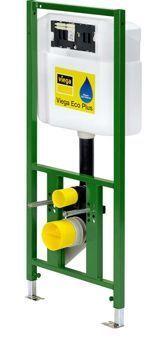 Viega Eco Plus WC-element 113cm m. 2H-UPinbouwreservoir 3-6-9 liter spoeling