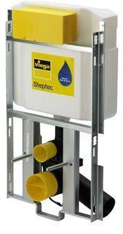 Viega Steptec WC-module m. Visign 2H-UP inbouwreservoir 113cm frontbediening