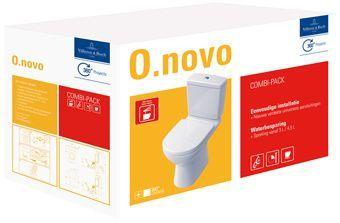 Villeroy & Boch O.novo combi-pack m. closetpot AO - reservoir- zitting ceramic+ wit