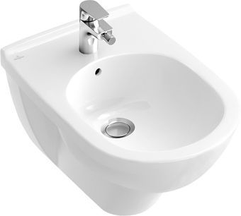 Villeroy & Boch O.novo wandbidet m. overloop m. 1 kraangat ceramic+ wit