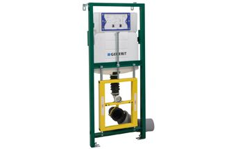 Walraven BIS Walkon® Comfort WC-element 2-knops m. reservoir en zelfdragend frame in hoogte/diepte v