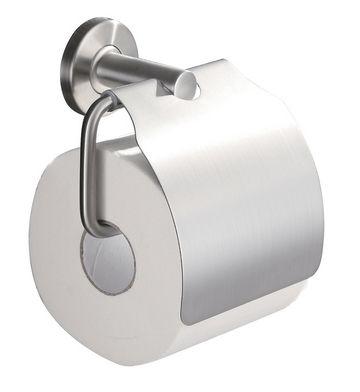 Wiesbaden 304 toiletrolhouder met klep RVS