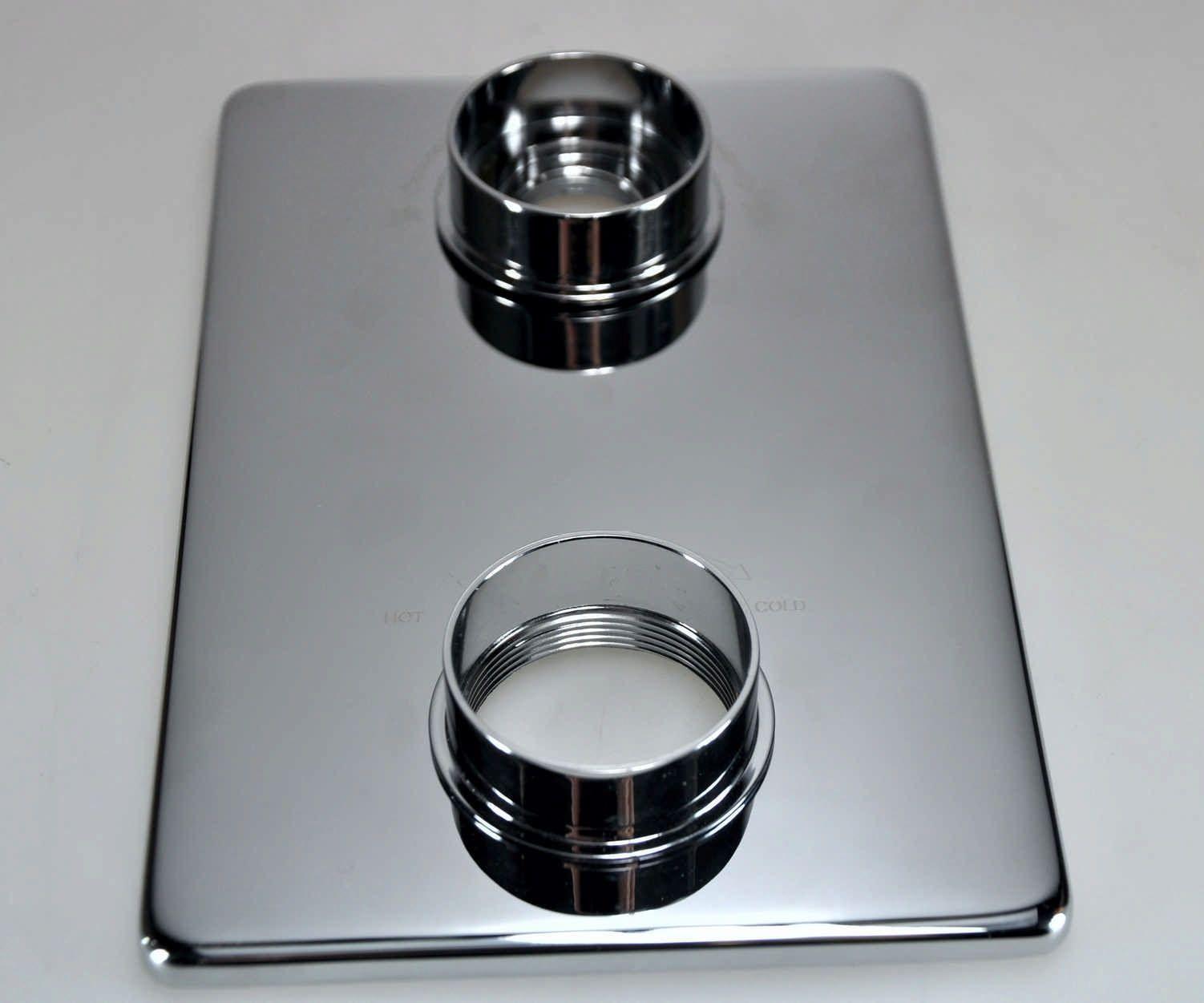 Wiesbaden 8mm verlengset voor 2 knops douchethermostaat chroom