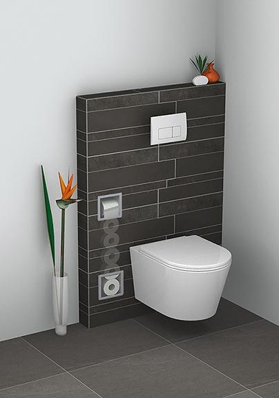 Wiesbaden inbouw toiletrolhouder en reserverolhouder RVS