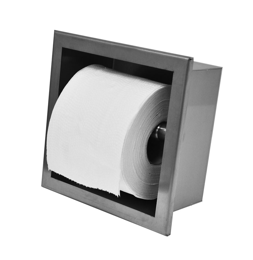 Wiesbaden inbouw toiletrolhouder RVS