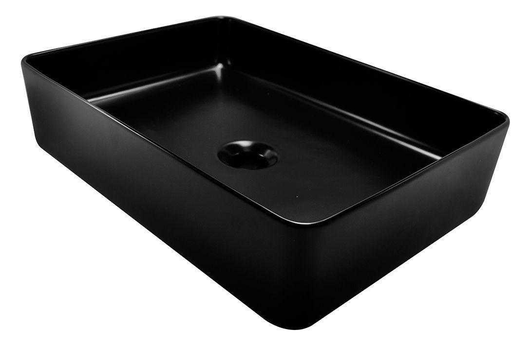 Wiesbaden Link opbouw wastafel 35x50x14.5cm zwart