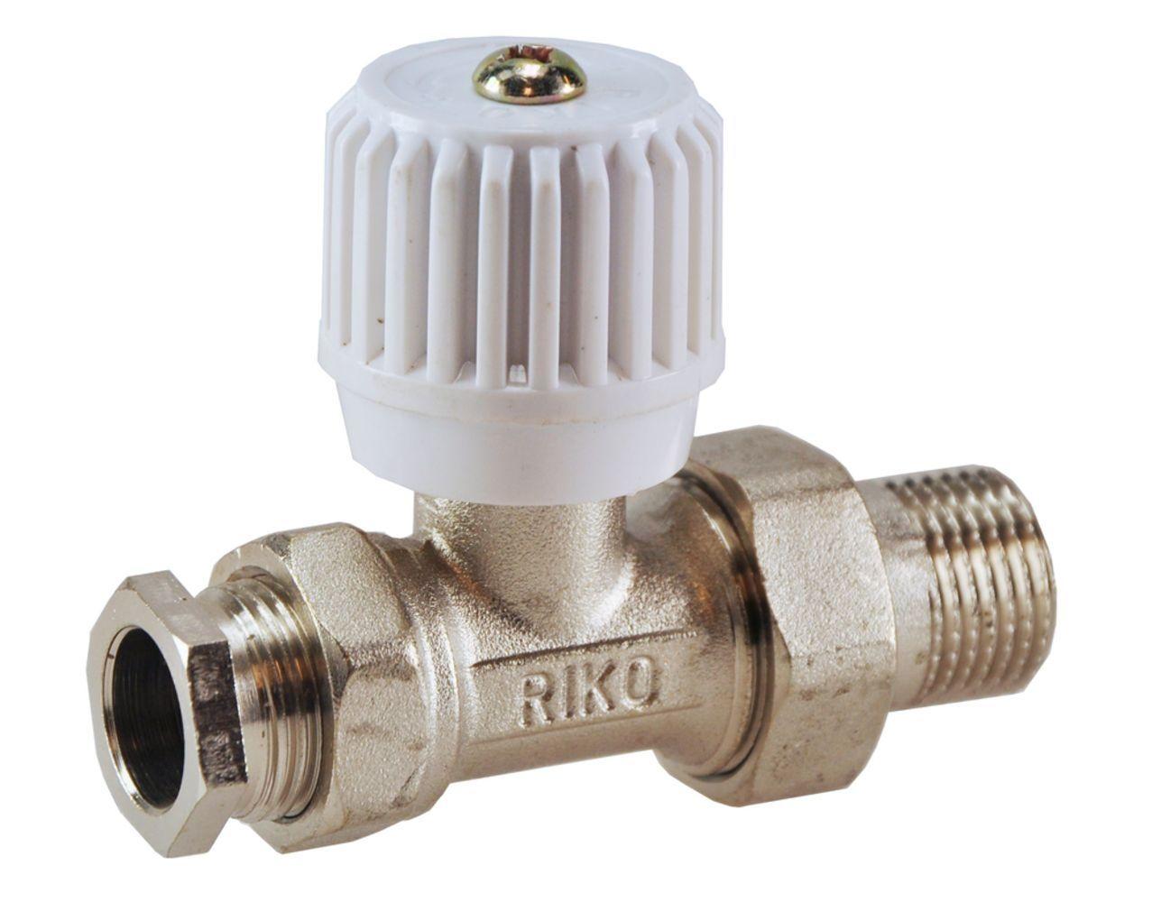 Wiesbaden Riko Radiator-ventiel+adapt.15mm 1/2recht