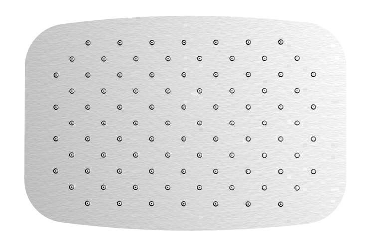 Mueller UFO ovale hoofddouche 30x20 RVS
