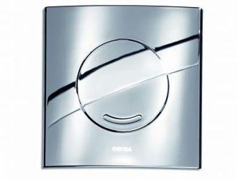 Wisa XS bedieningsplaat Argos SO 16x16cm kunststof glanschroom