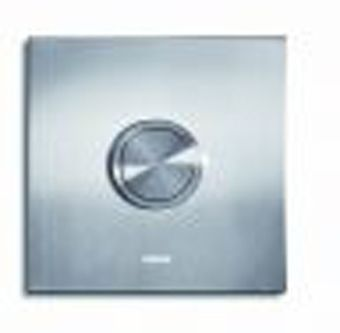 Wisa XS bedieningsplaat Square urinoir 17x17cm RVS