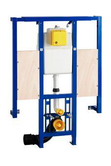 Wisa XS L WC-element m. Vario frontbediening m. steunbeugelelementen