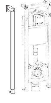 Wisa XS tussen eindprofiel H118cm diepte verstelbaar 13,5 20cm Wisa