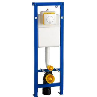 Wisa XS WC-element m. frontbediening m. Argos DF bedieningspaneel H118 t/m 138cm 3/6 liter max 7.5 l