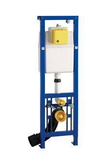 Wisa XS WC-element Vario m. frontbediening H130cm en 10cm in hoogte verstelbaar 3/6 liter max. 7.5 l