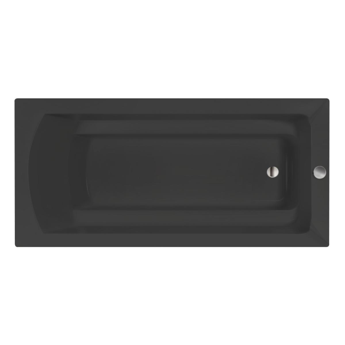 Xenz Bodysize douchebad 180x90x45cm ebony mat zwart