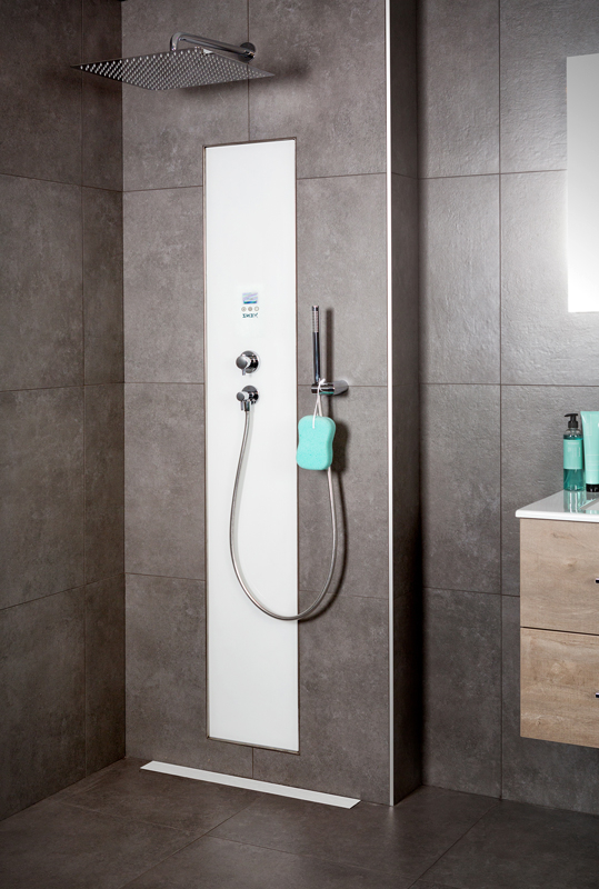 Productafbeelding van Xenz Upfall Shower Excellent Tray 100cm wit-wit