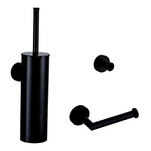 Zwarte toiletaccessoires