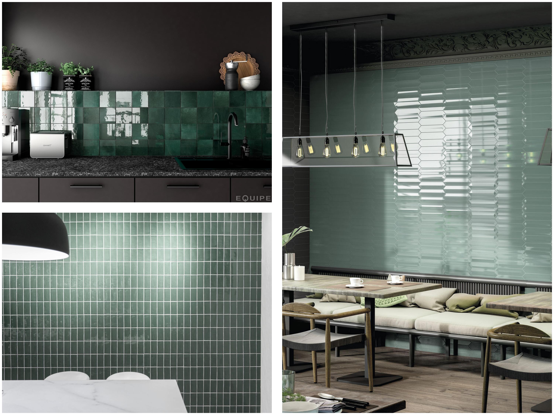 groene tegels keuken